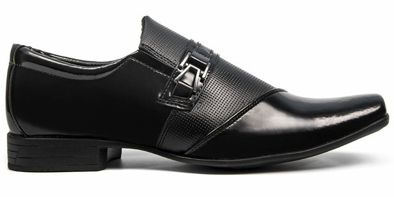 Sapato Social Masculino Couro Ecológico Mais Cinto Promoção