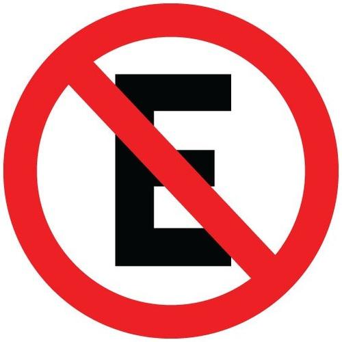Placa Sinalização Proibido Estacionar 45x45cm Redonda