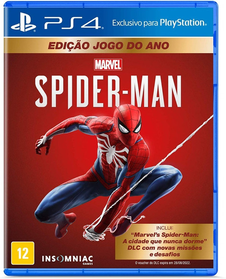 Spider-man Game Of The Year Ed. Ps4 Mídia Física Lacrado+nf
