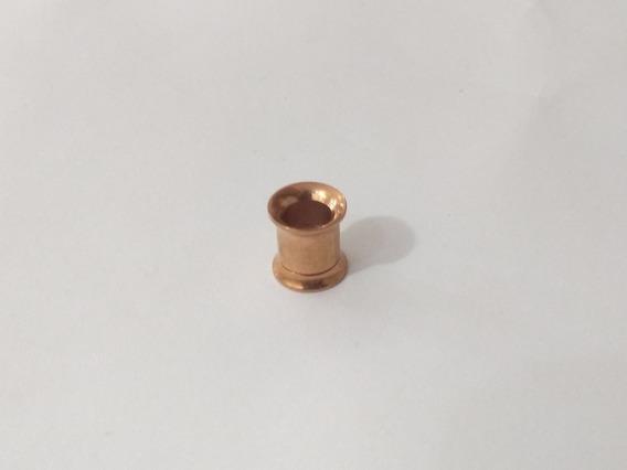 Alargador 8mm Rosca Interna Em Titânio Ouro Rose