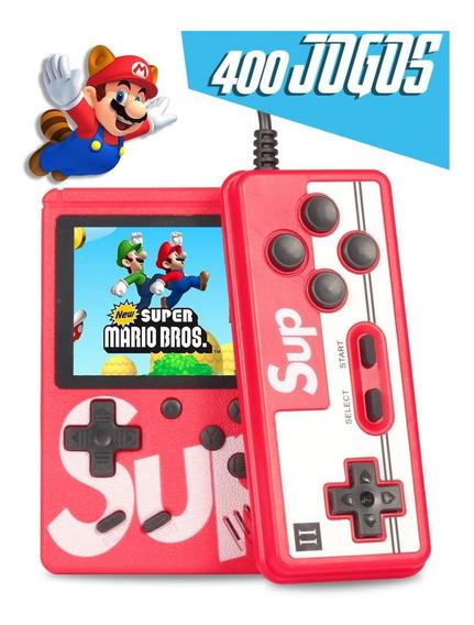 Mini Game Retro Clássico Portátil Super Com 400 Jogos Cons