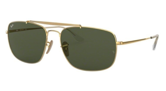 Oculos Sol Ray Ban The Colonel Rb3560 001 61mm Verde G15