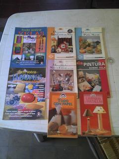 Revistas De Manualidades Lote De 50 Y Lote De 8 Libros