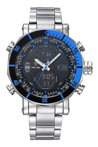 Relógio Weide Aço Inoxidável, 5 Cm Diâmetro, 3 Atm, Original