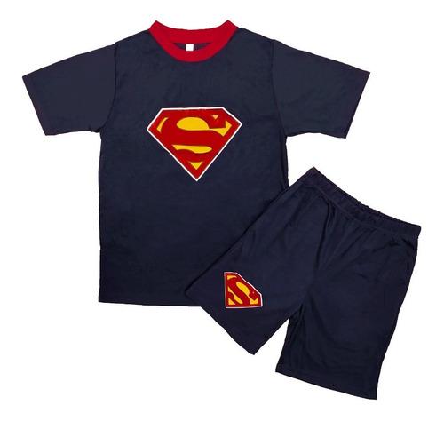 Pijama Algodón Hombre Pantalón Corto Manga Corta