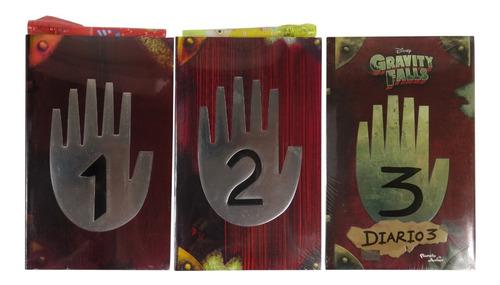 Diario 1, 2 Y 3 + Pluma + Lámpara Luz Uv - Gravity Falls
