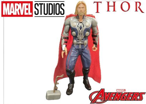 Imagem 1 de 6 de Boneco Thor Com Martelo Vingadores Marvel  Heroi Com Som