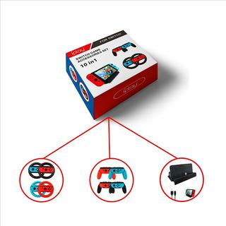 Nintendo Switch 10 Un Juego De Accesorios De Juego 10 En 1