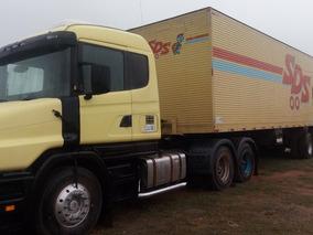 Scania 124 Engatado Em Carreta Bau