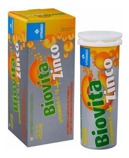 50 Biovita Zinco Efervescente 1000mg De Vitamina C + Zinco