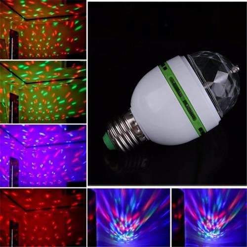 Imagen 1 de 4 de Foco Led Giratorio Rgb Led Luz Para Fiesta/disco Por Mayor