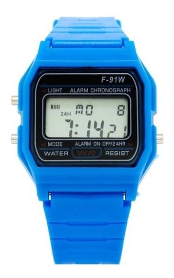Reloj Hombre Mujer Everite Retro Vintage Digital Cronometro Alarma - Color Azul