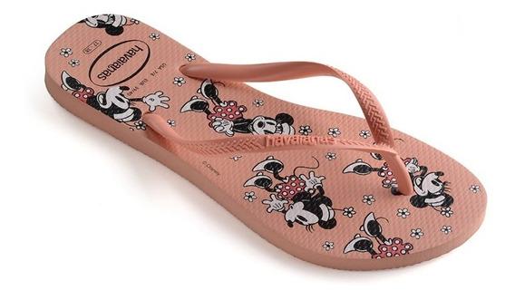 Chinelo Havaianas Slim Disney Minnie Original Novo