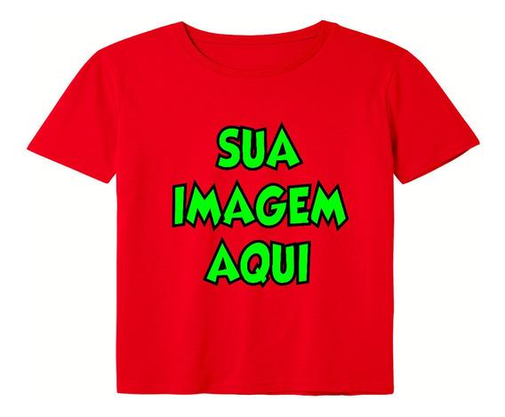 Camisetas Personalizadas Vermelha Aqui