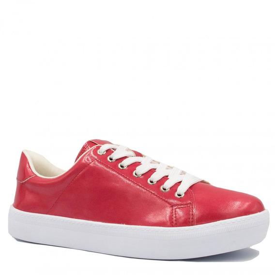 Tênis Feminino Zariff Shoes Flatform Verniz Marmorizado