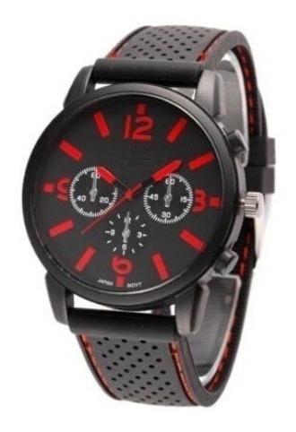 Relógio Masculino Gt Sport Preto E Vermelho Ou Laranja
