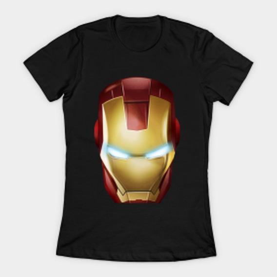Remera Iron Man Mujer Stock Solo Negro Blanco Firefly C 4