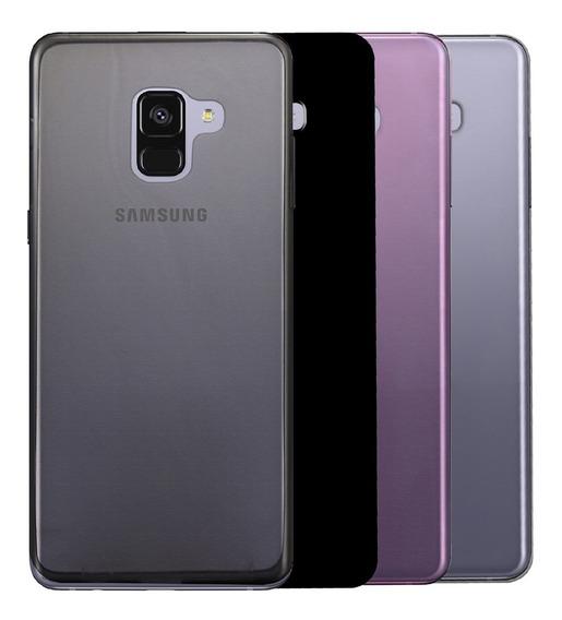Funda Samsung Series Galaxy A / M / J / S / Note / Protector Tpu Plástico Flexible Silicona + Mica Cristal