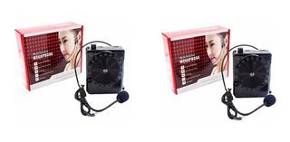 2 Amplificador Voz Micrófono Fm Usb Auricular Conferencia