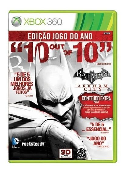 Batman Arkham City - Xbox 360 - Original - Usado