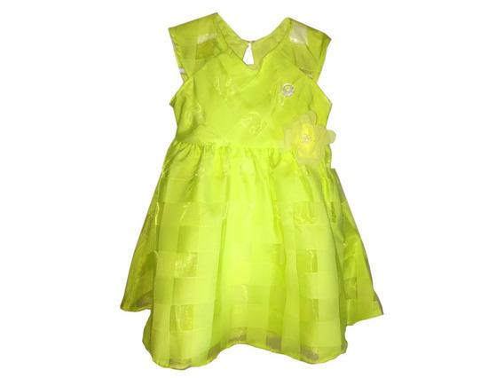 Vestido Para Festa Infantil Milon Verde Claro Tamanho M