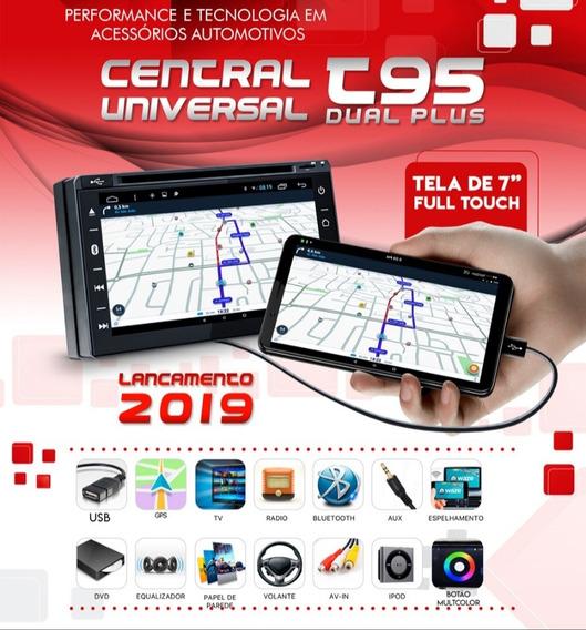 Kit Multimídia Universal 2din Usb Dvd Gps Tv Espelhamento Bt