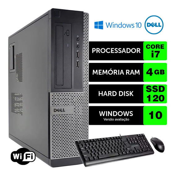 Computador Barato Dell Optiplex Int I7 2g 4gb Ssd120 Brinde