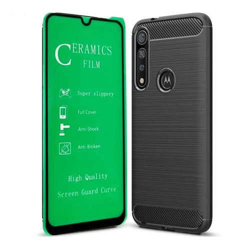 Funda Estuche Motorola G8 Plus + Vidrio Templado 5d
