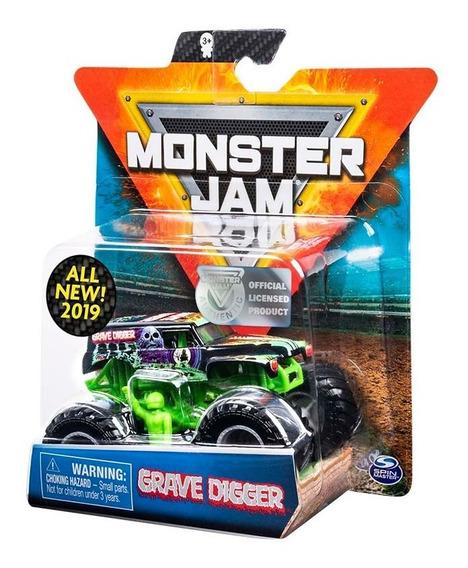 Monster Jam Vehiculo Metal Escala 1/64 Grave Digger Zombie