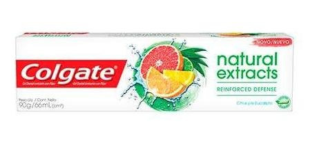 Creme Dental Colgate Natural Extracts Reinforced Defense 90g