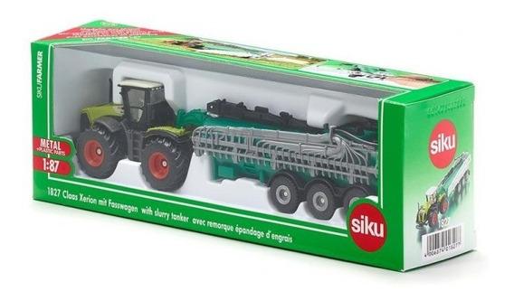 Tractor Class Xerion Con Tanque De Vacio - 1/87 H0 Siku 1827