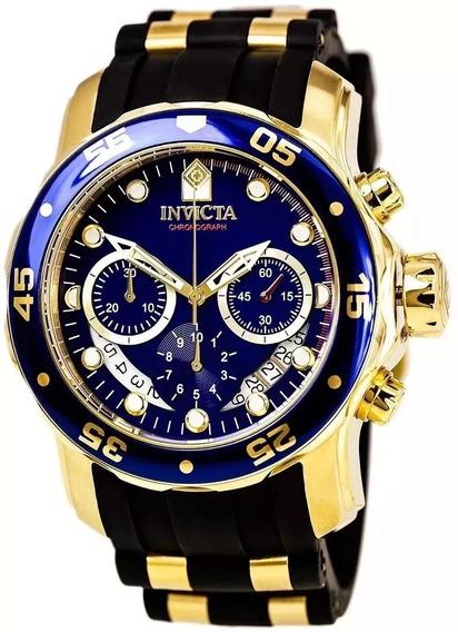 Relógio Pa084 Invicta Pro Diver 6983 - Ouro 18k Envio 24hrs