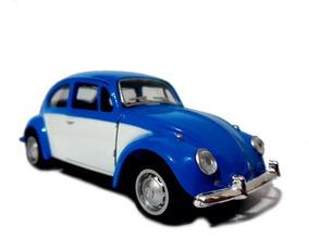 Fusca Azul Porta Branca Veiculo Miniatura Automóveis 1/32