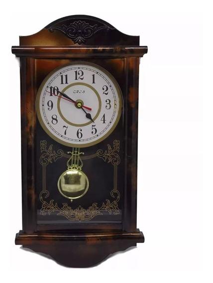 Relógio Modelo Antigo De Parede Com Pêndulo Retrô