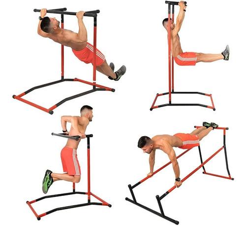 Estação Exercicios Academia Musculação Paralelas Barra Fixa