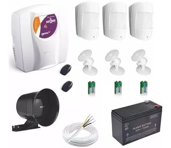 Kit Alarme Central Genno Ultra Slim 3 Com Sensor Sem Fio