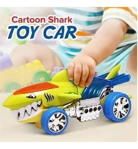 Carro Tiburon Luces Y Soni Shark Raid Juguete