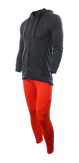 adidas Conjunto Training Mujer Hoody Tight Ts Gris Coral