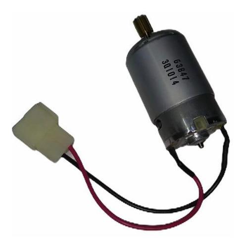 Motor +engranaje+cable Soldado + Ficha Auto A Bateria Niños