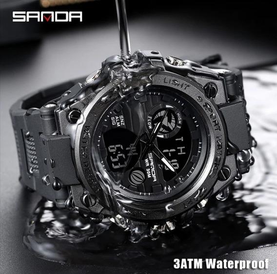 Relógio Sanda Esportivo Para Homens Mecánico Digital