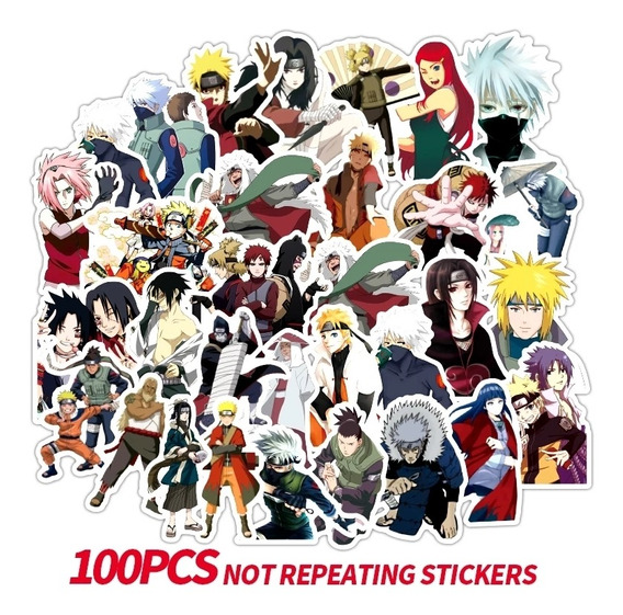 Naruto 100 Stickers Pvc Contra Agua Premium