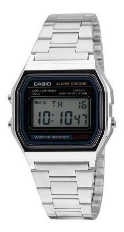 Relógio Cásio Prata Digital Unissex Mod: A158wa-1cr