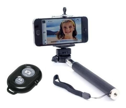 Bastão De Selfie Com Controle Bluetooth Monopod