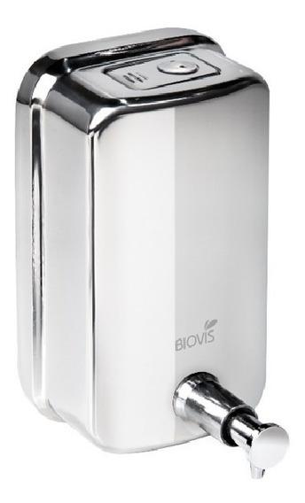 Dispenser Sabonete Liquido Saboneteira Inox 500 Ml Biovis