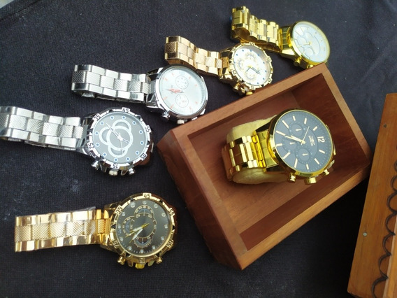 Kit Acessório De Luxo Masculino ( Relógios )