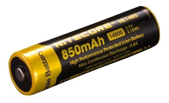 Bateria Recarregavel Lítio Nitecore 14500 Nl11485 850mah