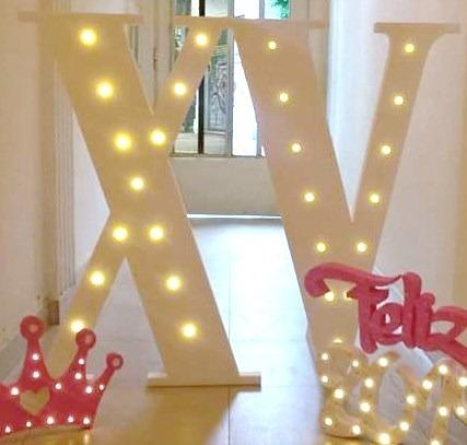 Numeros Letras Grande Luz 80 Cm Casamiento 15 Boda Led