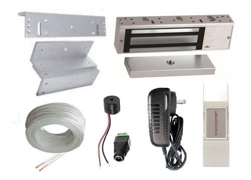 Cerradura Electromagnetica 180kg + Soporte Control Puerta Dg