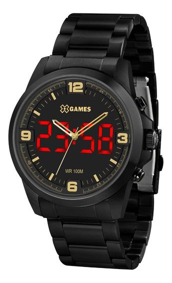 Relógio X-games Masculino Led Xmnsa002 P2px Digital Preto