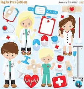 Kit Scrapbook Digital Doutor Enfermagem Imagens Receba 1min!